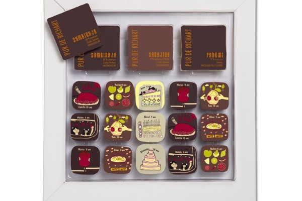 Richart chocolate: Little Discoveries collection made from children's drawings