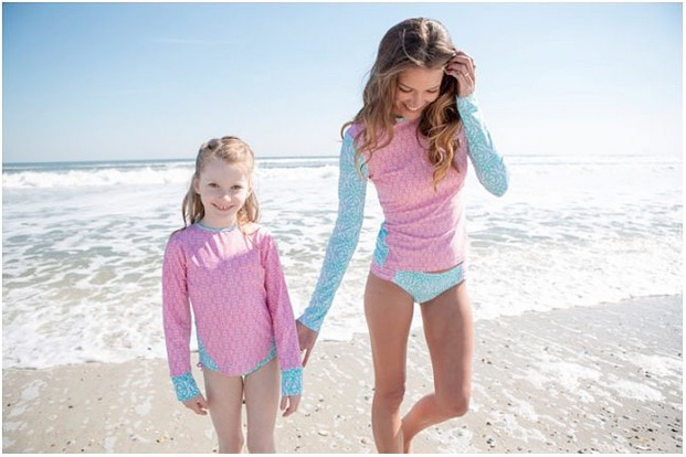 Somewhere on the children's swimwear continuum between innapropriate and modesty suits.