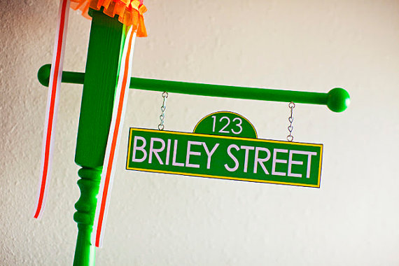 Personalized Sesame Street sign for kids