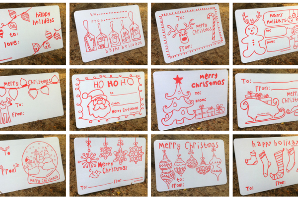 color-in holiday gift tags | cool mom picks