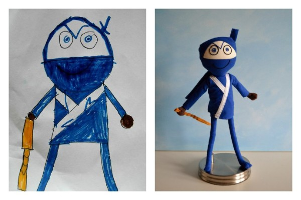 Childs Own Studio turns children's artwork into dolls. Even ninjas.