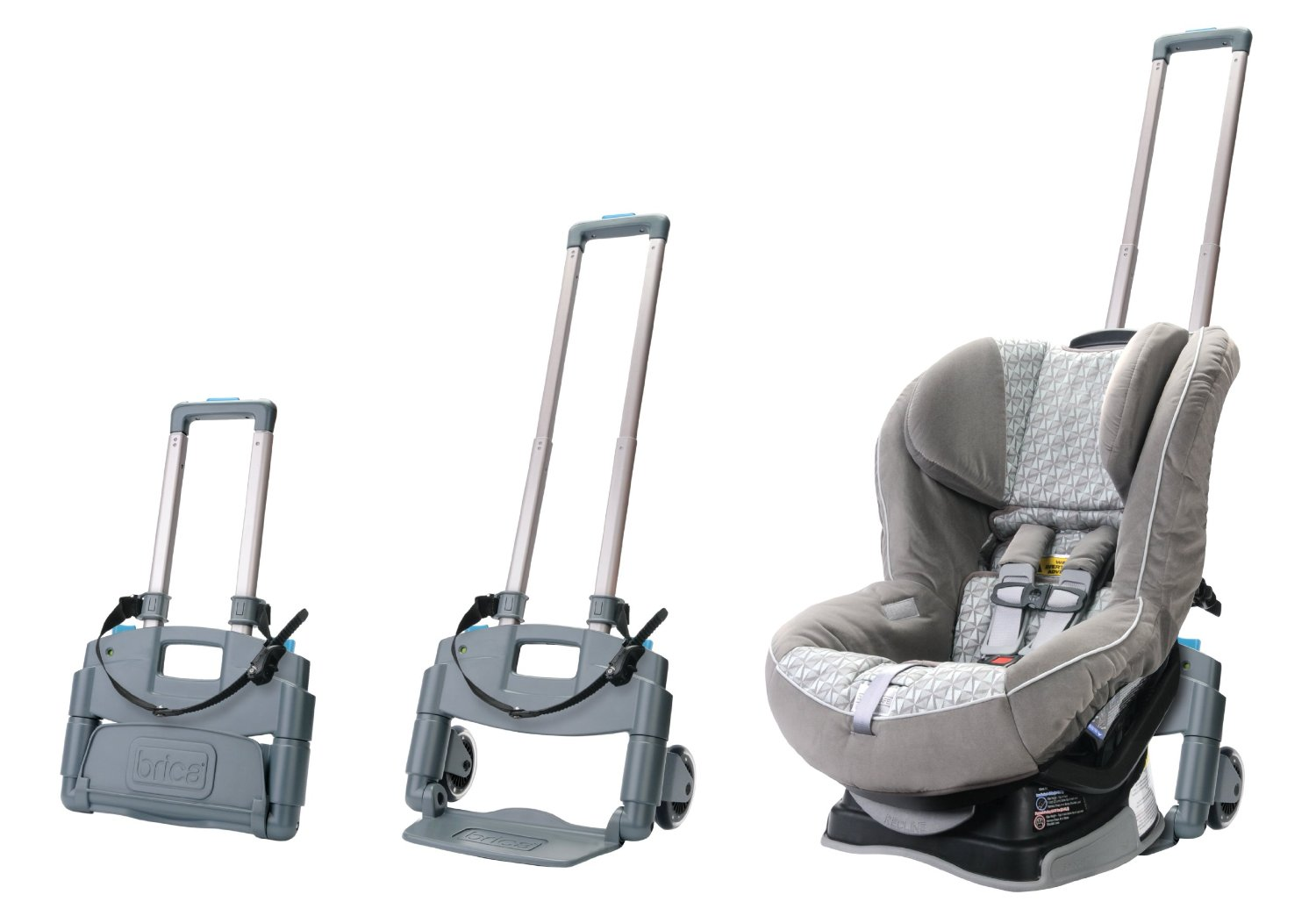 An easy way to get your car seat from the car to the airplane