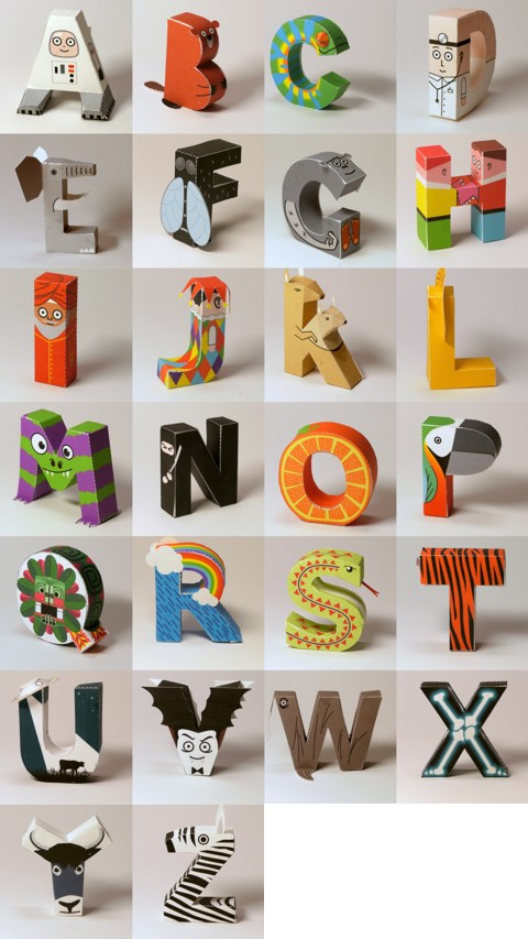 Free printable alphabet papercraft at digitprop | Cool Mom Picks