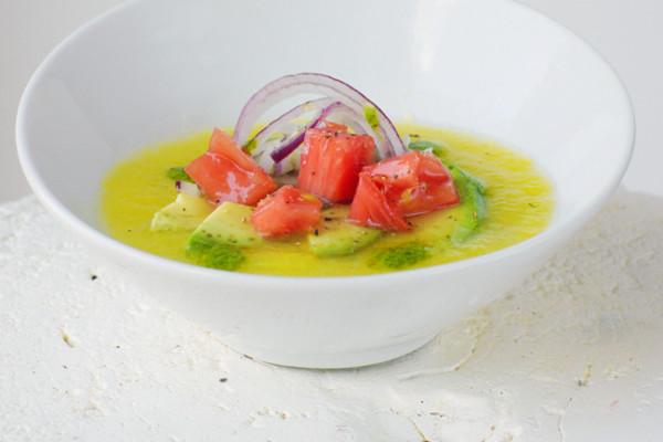 Yellow Tomato Gazpacho from joylicious | Cool Mom Picks