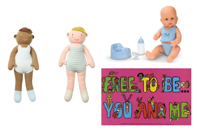 Great baby dolls for boys, in honor of Free to Be You and Me, and William…40 years later.