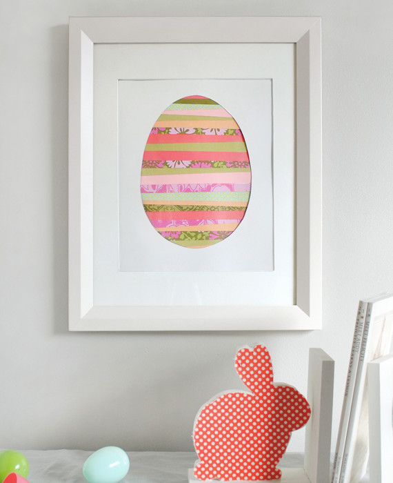 Paper strip Easter egg art from Minted | Cool Mom Picks