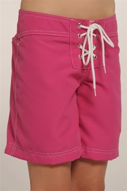 Board shorts for girls? Like, totally.