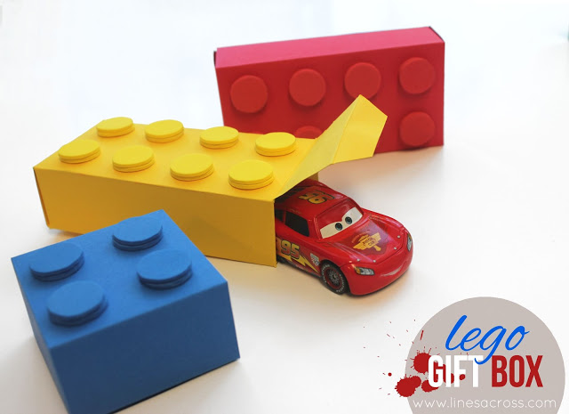 DIY LEGO gift boxes for LEGOriffic parties