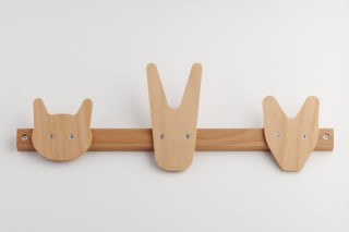 A coat rack almost too cute to hang your coats on