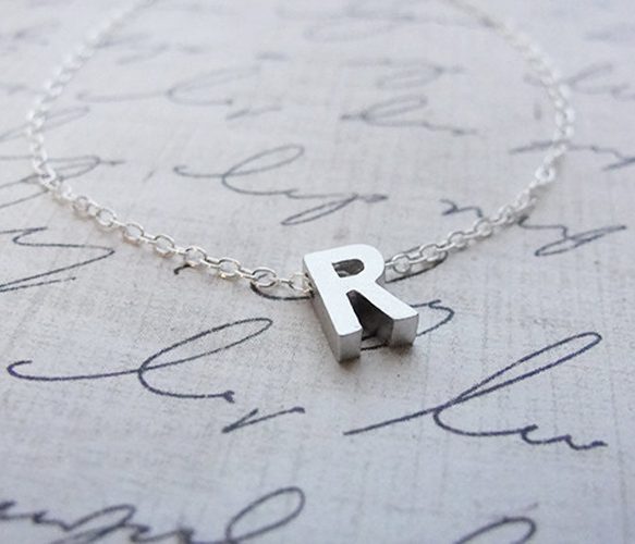 So I had to say I love you with an initial charm necklace