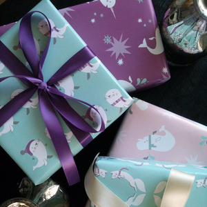 Wrapping paper so cute it should come with a frame.