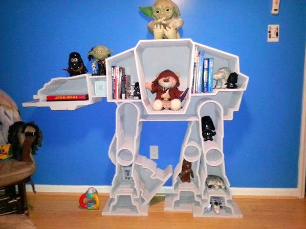 The only thing cooler than Hoth is this Star Wars book shelf
