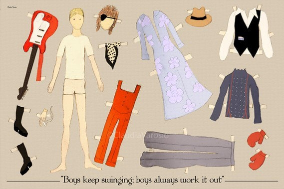 The hippest paper dolls in the history of paper dolls. (Possibly a true fact.)