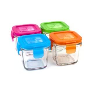 New glass baby food containers make it easy to wean off the plastic
