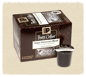 Peet's Coffee comes home with you. One at a time.