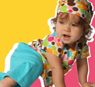 Candy-colored baby clothes, totally sugar-free