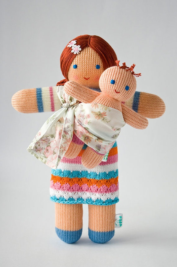 Babywearing dolls? Whoa, the cuteness.