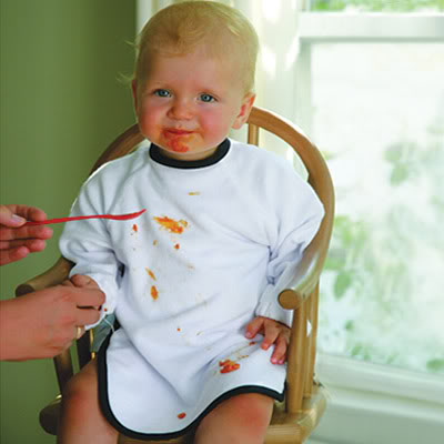 The baby bibs for full contact eaters
