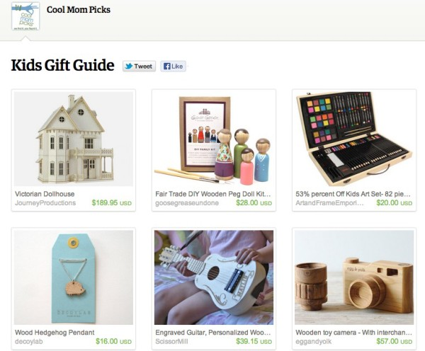 Etsy Tastemaker Pages - Shopping guide from Cool Mom Picks