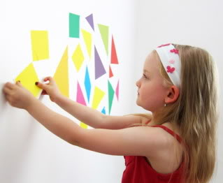 Taking tangrams to new places: Your walls