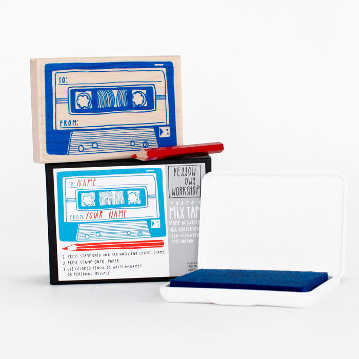 This Mixtape Stamp Activity Kit is even cooler than the mixtapes of our youth