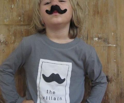 Little Villain Mustache Tee for Kids | Cool Mom Picks