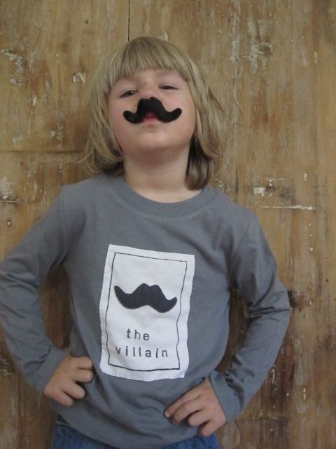 Little Villain Mustache Tee for Kids | Cool Mom Picks