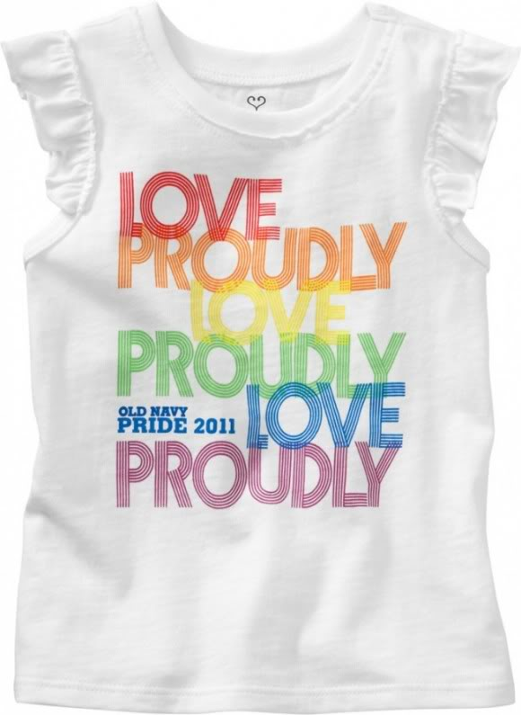 Looking for the Old Navy Gay Pride t-shirts? We found them!