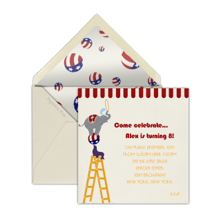 Children's party invitations – now a piece of cake