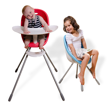 The new Phil & Ted's Poppy high chair converts to a not-so-high chair