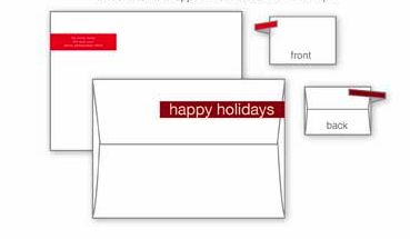 Dandy address labels for holiday cards with style