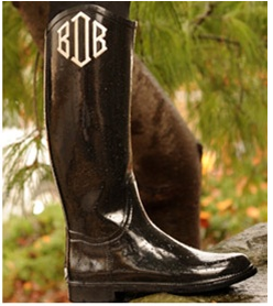 Monogrammed rain boots keep you singin' (and stylin') in the rain