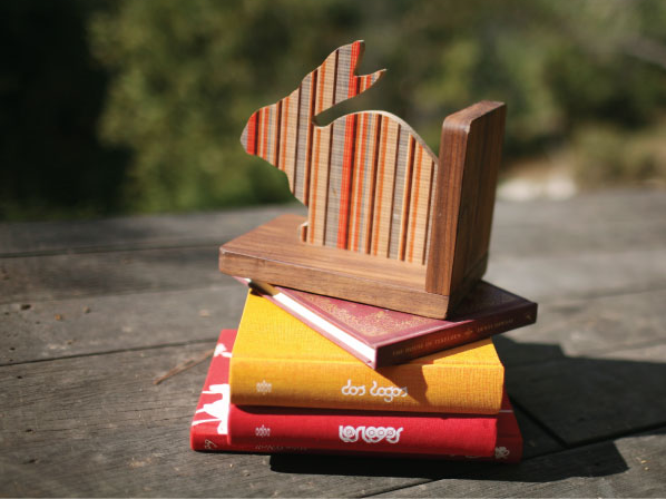 Gorgeous bookends to hold up those 16 copies of Goodnight Moon