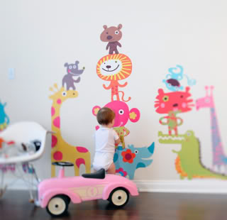 Adorable wall decals that don't hurt your walls, your kids, or the world