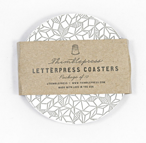 Letterpress coasters at BRIKA | Cool Mom Picks
