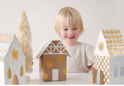 Web Coolness: Snowflakes for Sandy Hook, DIY Christmas villages, and gift wrap inspiration