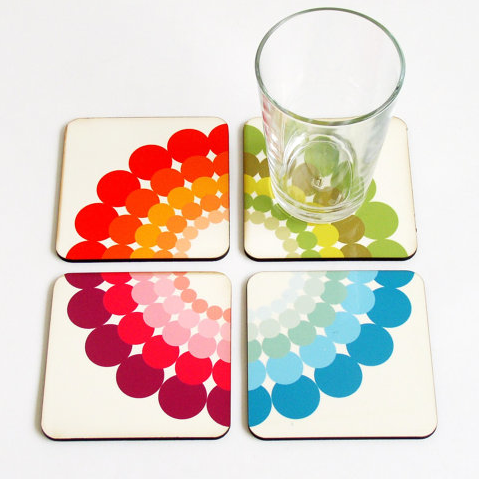 Colorful coasters with serious design savvy