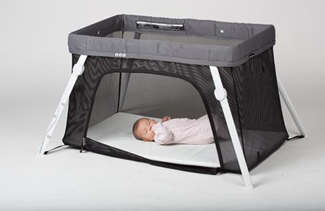 "Lotus Everywhere Crib: Puts ""travel"" back in travel crib"