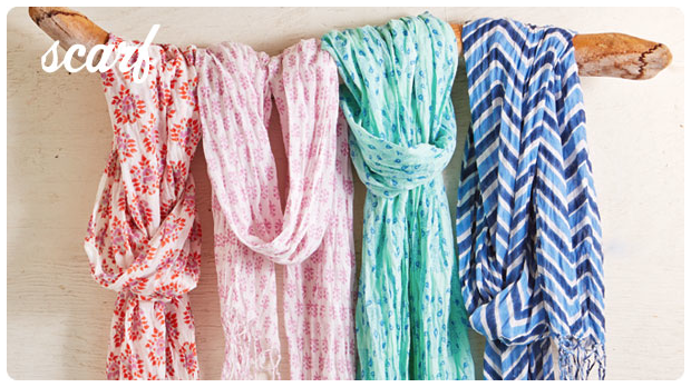 The perfect pop of color: vibrant voile scarves for almost spring