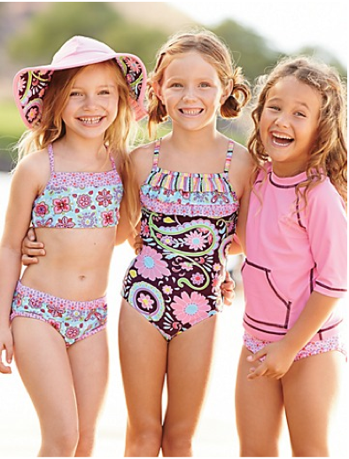 The best age-appropriate bikini swimsuits for little girls. As in, no, they don't need to dress like teenagers.
