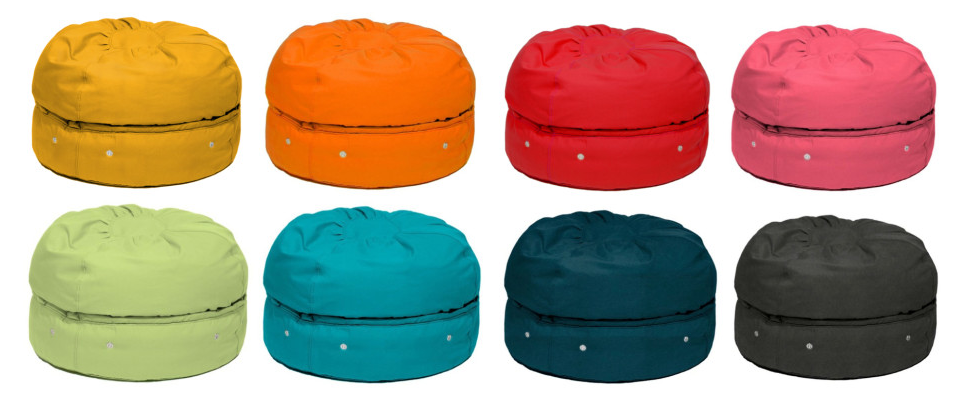 Store your stuff in a bean bag. Or is it a macaron bag?