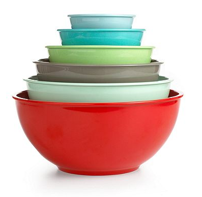 Mixing up colors with Martha Stewart mixing bowls