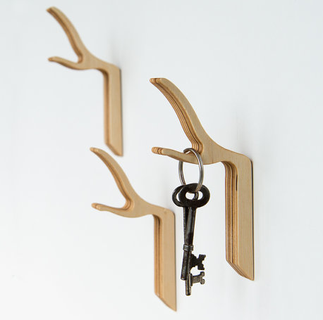 Super cool wall hooks that bring the outdoors in