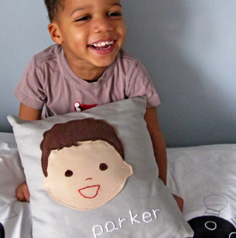 Quick pick! Custom pillow portraits, available for a limited time only