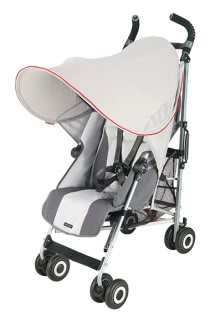 A stroller sunshade that makes sense
