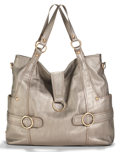 5 of the most stylish metallic diaper bags