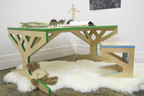 A tree grows in Brooklyn. And becomes eco-friendly kids' furniture.