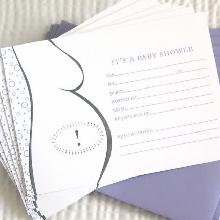 Shower Invites That Demand RSVPs