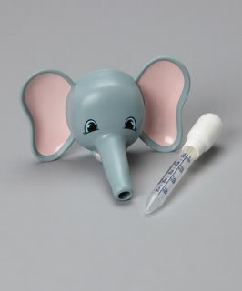 A cute talking elephant helps the medicine go down