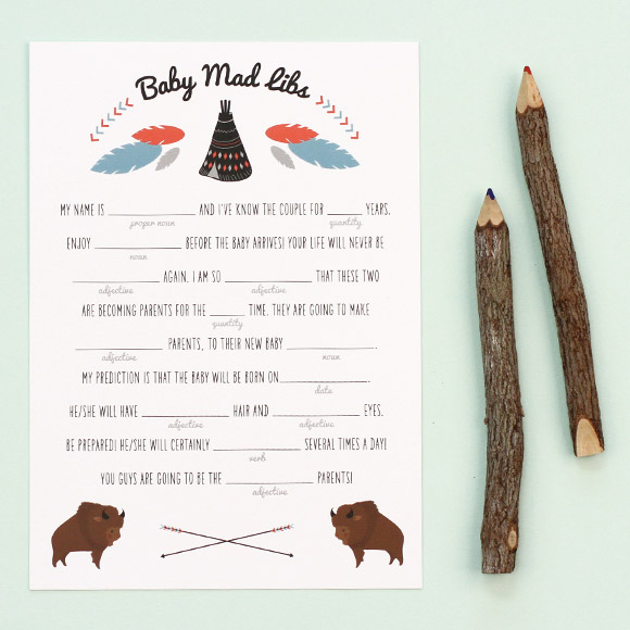 One baby shower game we love. And it's printable. And free.